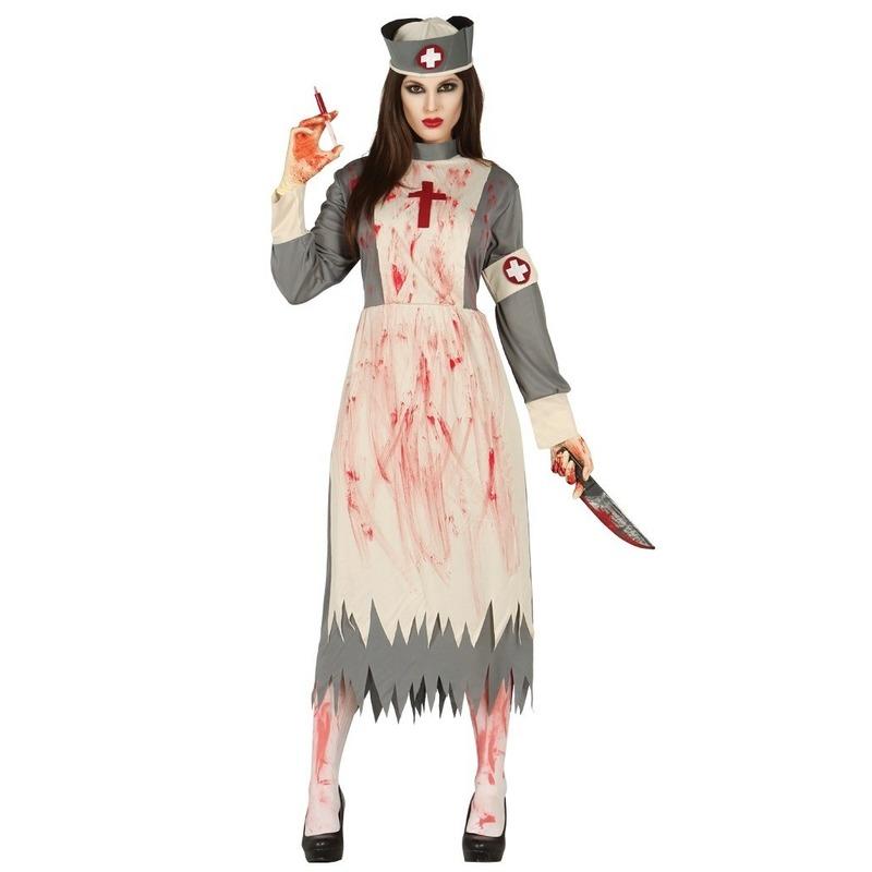 Horror verpleegster/zuster verkleed kostuum voor dames
