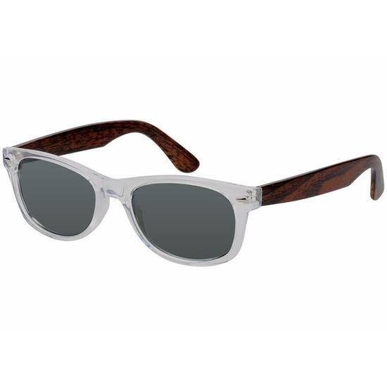 Houtlook Clubmaster heren zonnebril donker model 7112