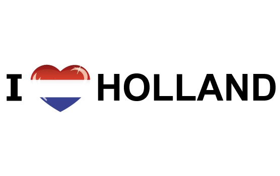 I Love Holland stickers 19.6 x 4.2 cm