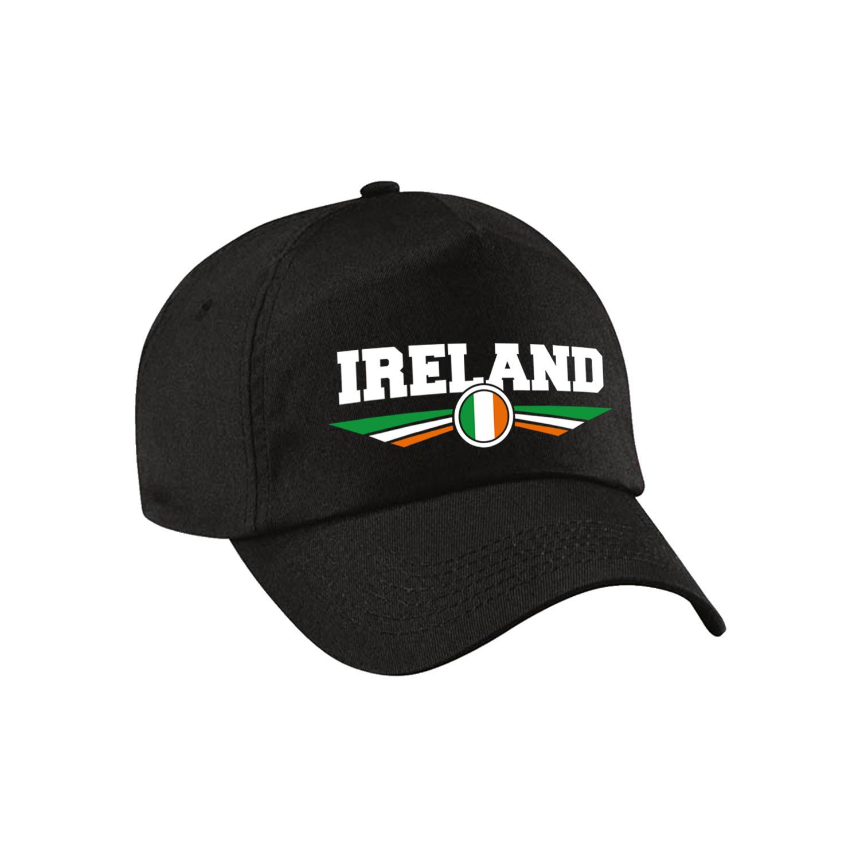Ierland - Ireland landen pet - baseball cap zwart kinderen