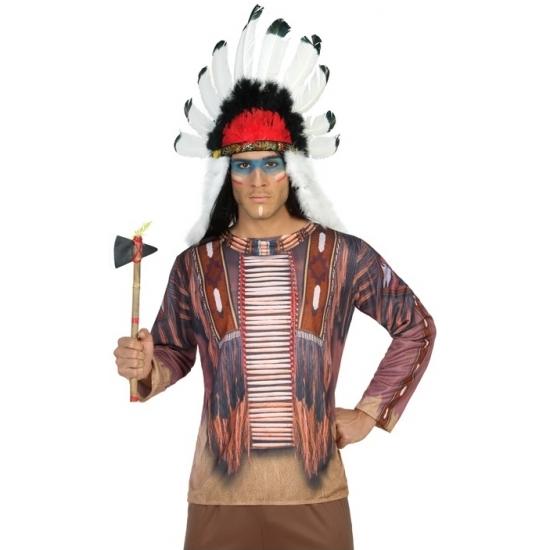 Indiaan verkleed shirt voor heren