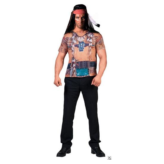 Indianen shirt 3-D voor heren