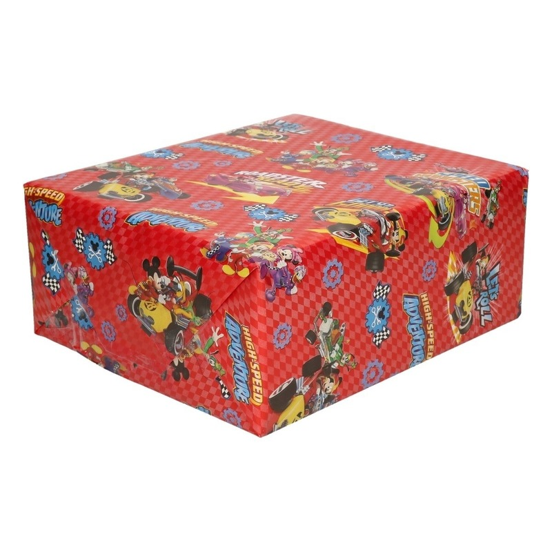 Inpakpapier-cadeaupapier Disney Mickey Mouse 200 x 70 cm rood
