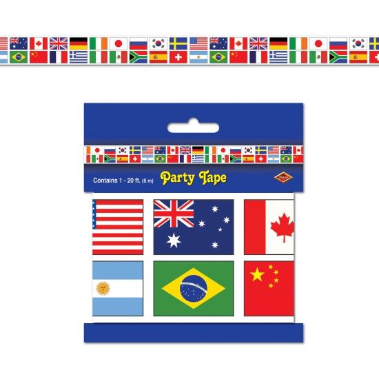 Internationale vlaggen markeerlinten