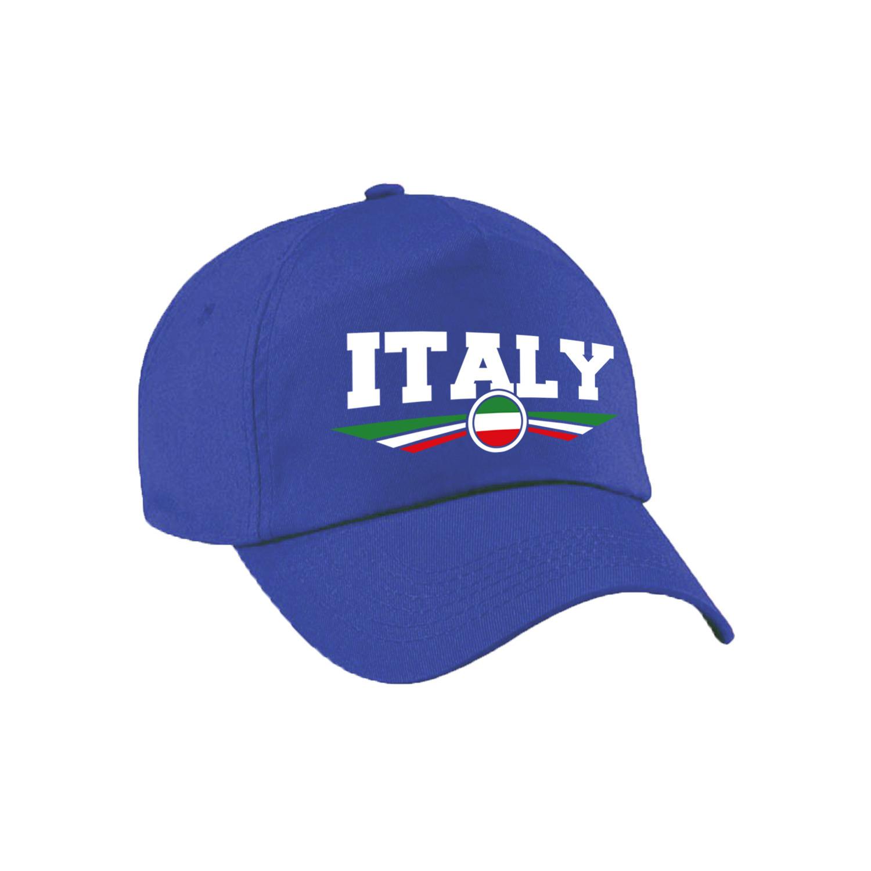 Italie - Italy landen pet - baseball cap blauw kinderen
