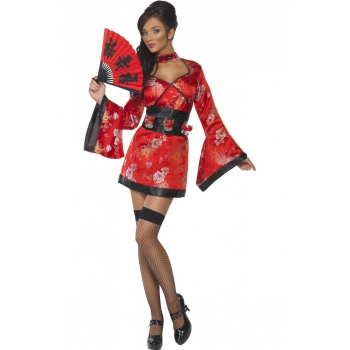 Japanse geisha jurk met shotglas riem