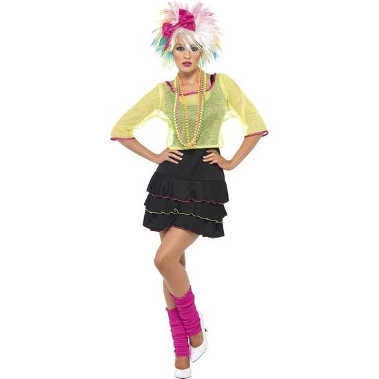 Jaren 80/80s popster verkleed kostuum/jurk voor dames