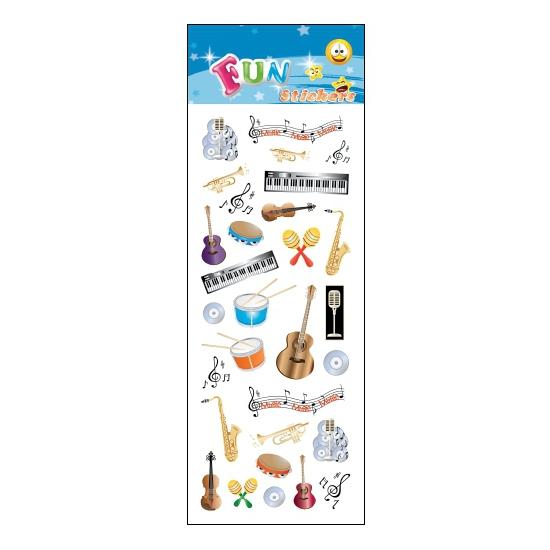 Kado stickers muziekinstrumenten