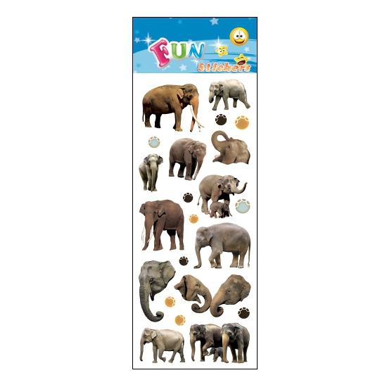 Kado stickers olifanten
