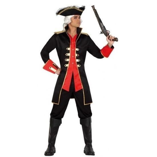 Kapitein piraat William verkleed jas voor heren