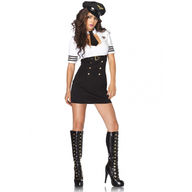 Kapitein verkleedkleding voor dames