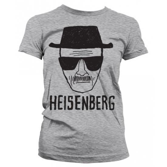 Katoenen Girly T-shirt Heisenberg Sketch grijs voor dames