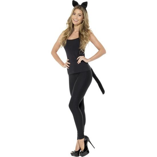 Katten/poezen verkleedset voor dames