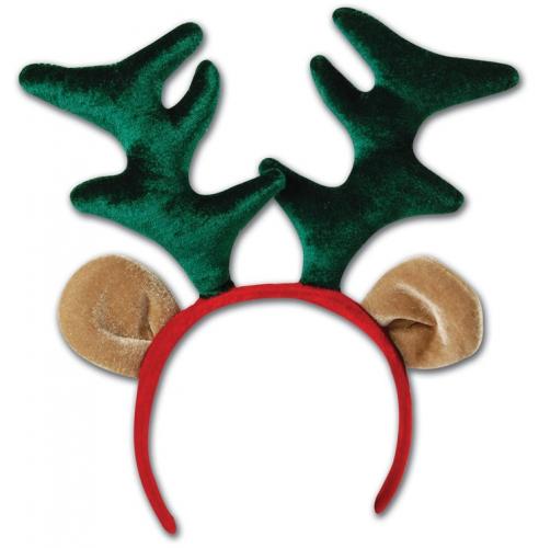 Kerst diadeem met rendier gewei en oren