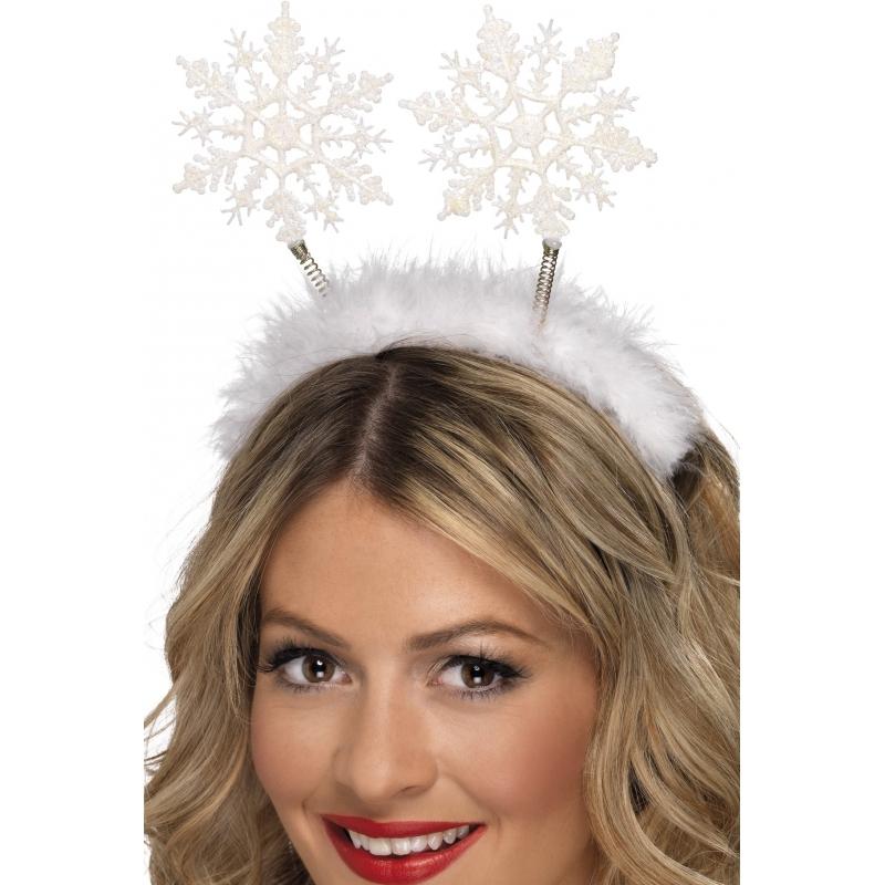 Kerst diadeem met sneeuwvlokken