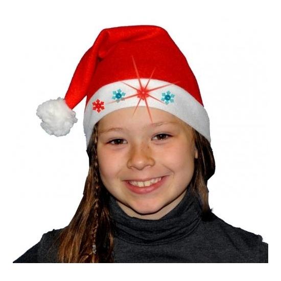 Kerstmuts met lampjes voor kinderen