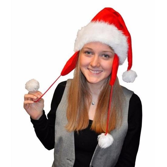 Kerstmuts pluche met oorflappen voor volwassenen