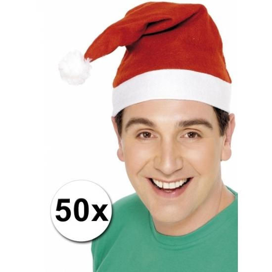 Kerstmutsen pakketje van 50 stuks