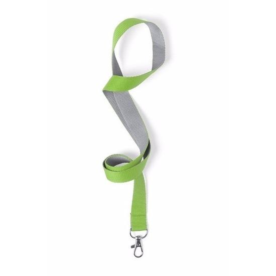 Keycord groen/grijs 2 x 50 cm