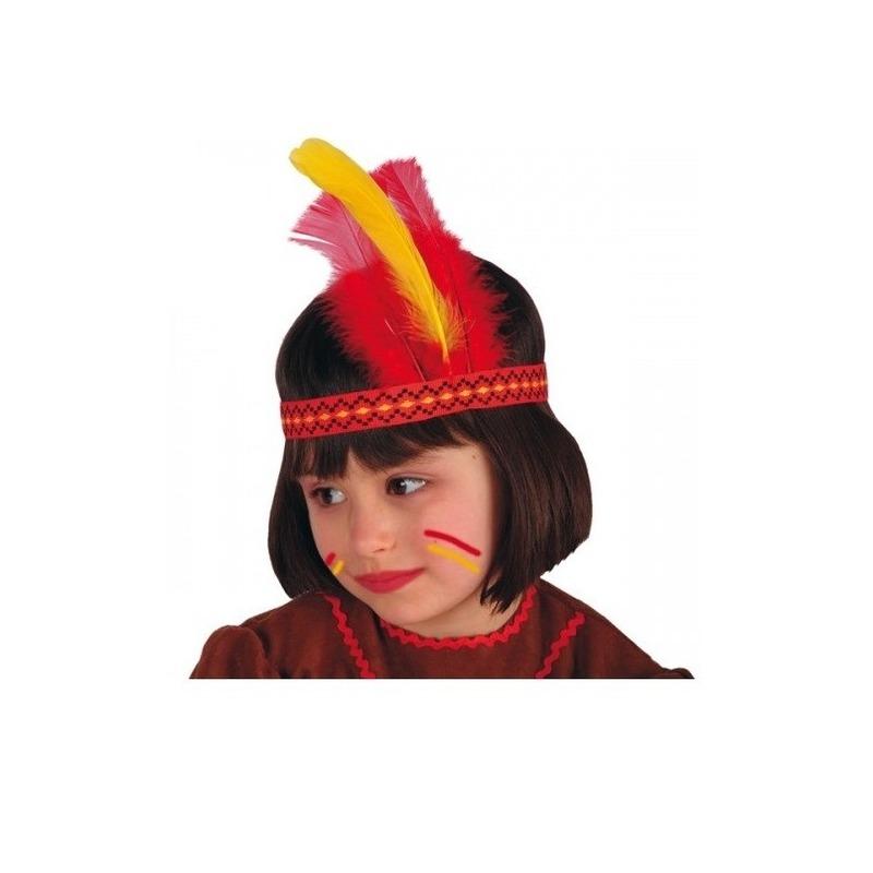 Merkloos Kids indiaan hoofdtooi verschillende kleuren