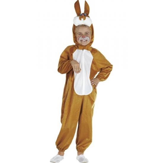 Kinder Carnavalskleding bruin konijn