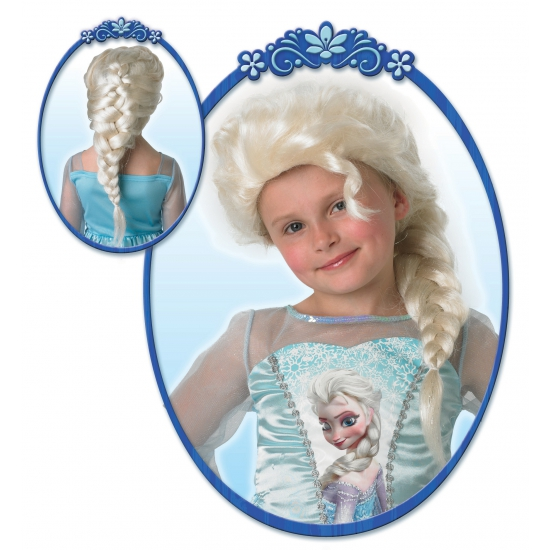 Kinderpruik Elsa uit Frozen