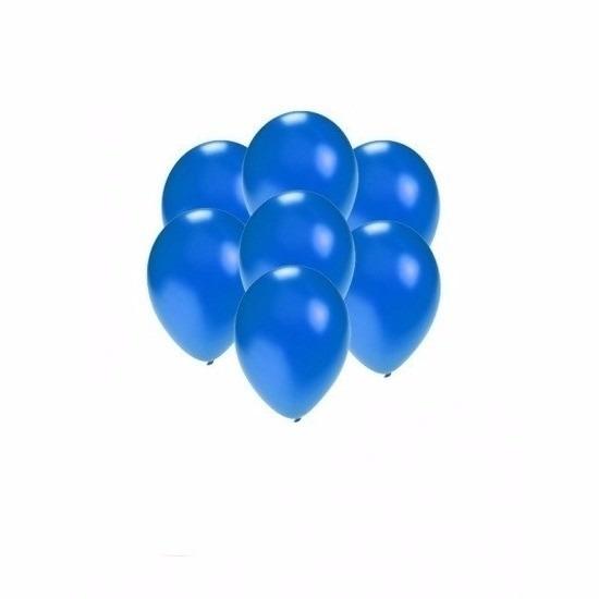 Kleine ballonnen blauw metallic 200 stuks