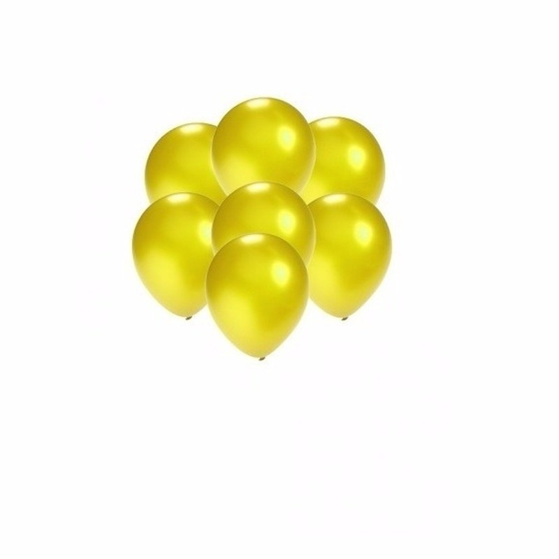 Kleine ballonnen geel metallic 200 stuks