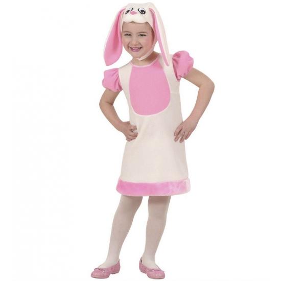 Kleuter kostuums roze konijn