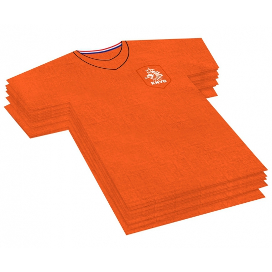 KNVB servetten in t-shirt vorm