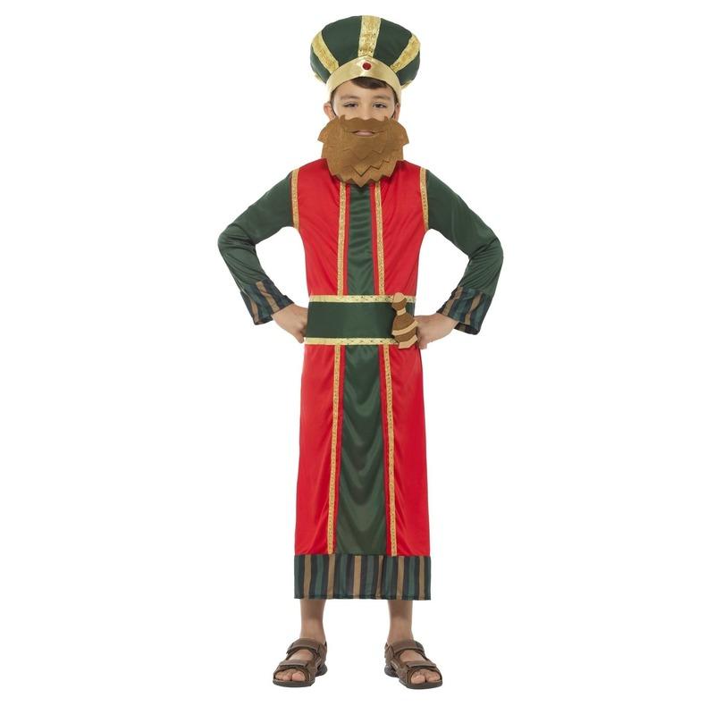 Koning Caspar kostuum voor jongens 3-koningen kerst kostuum