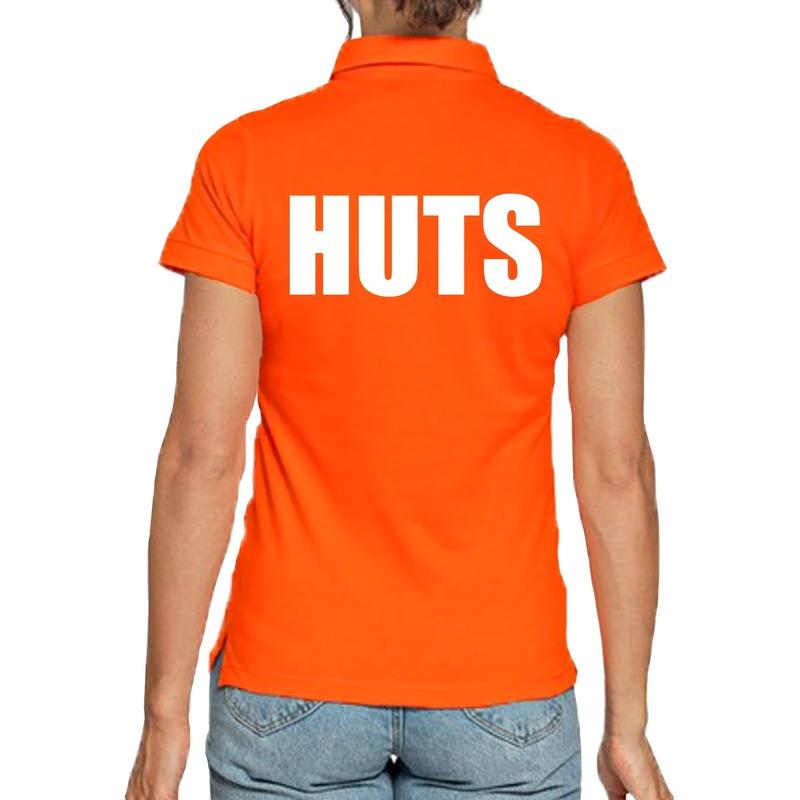 Koningsdag poloshirt HUTS oranje voor dames