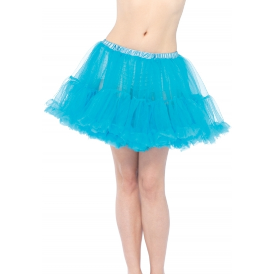 Korte turquoise petticoat 40 cm