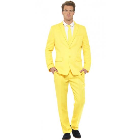 Kostuum carnaval geel heren