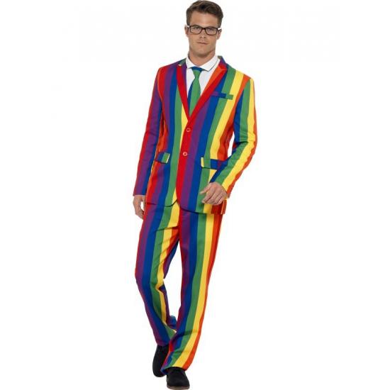 Kostuum carnaval regenboog heren
