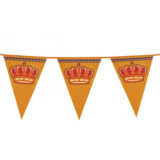Kroegversiering Koningsdag vlaggenlijn