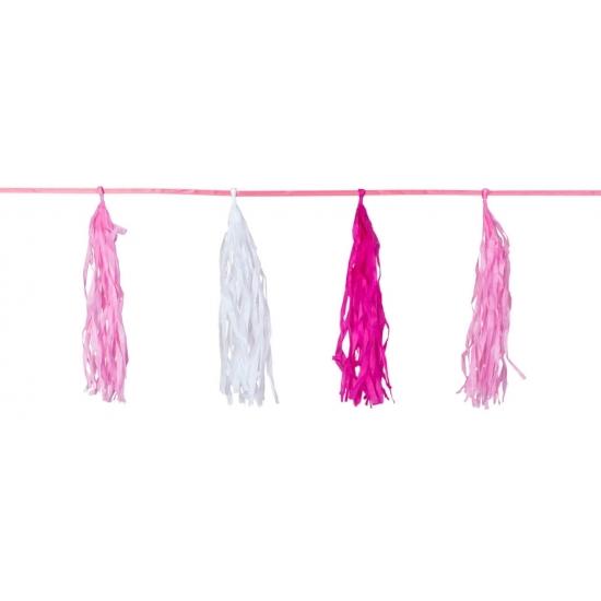 Kwast tassel slinger roze 3 meter