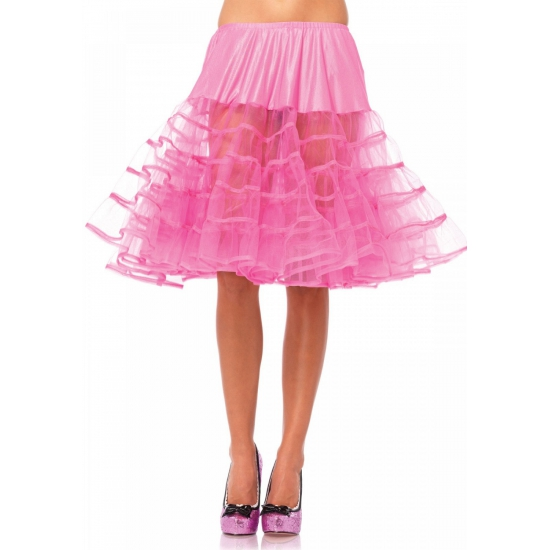Lange fuchsia roze petticoat 65 cm