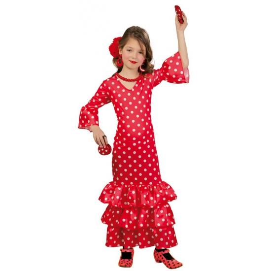 Merkloos Lange Spaanse jurk voor meisjes