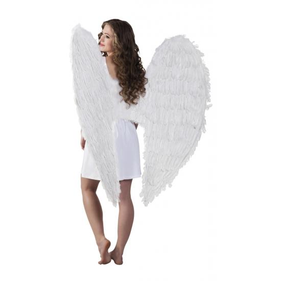 Lange witte vleugels 120 x 120 cm