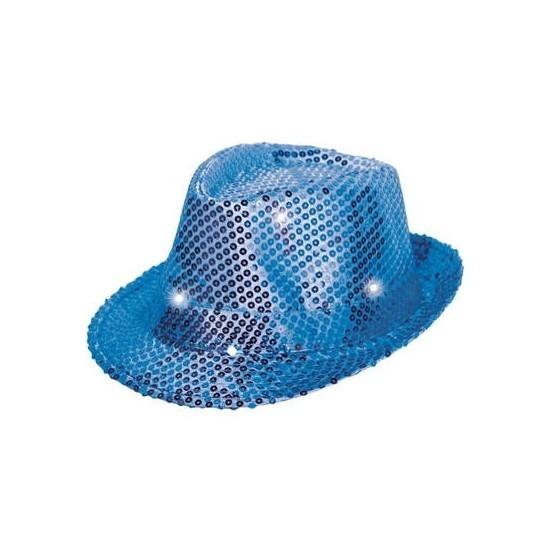 Lichtgevend blauwe hoeden volwassenen