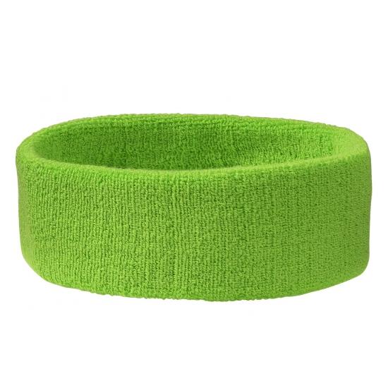 Lime groene hoofd zweetbanden