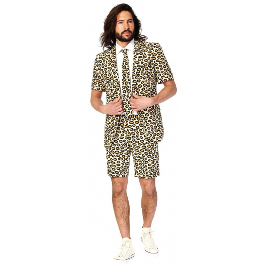 Luipaard/panter print zomer kostuum