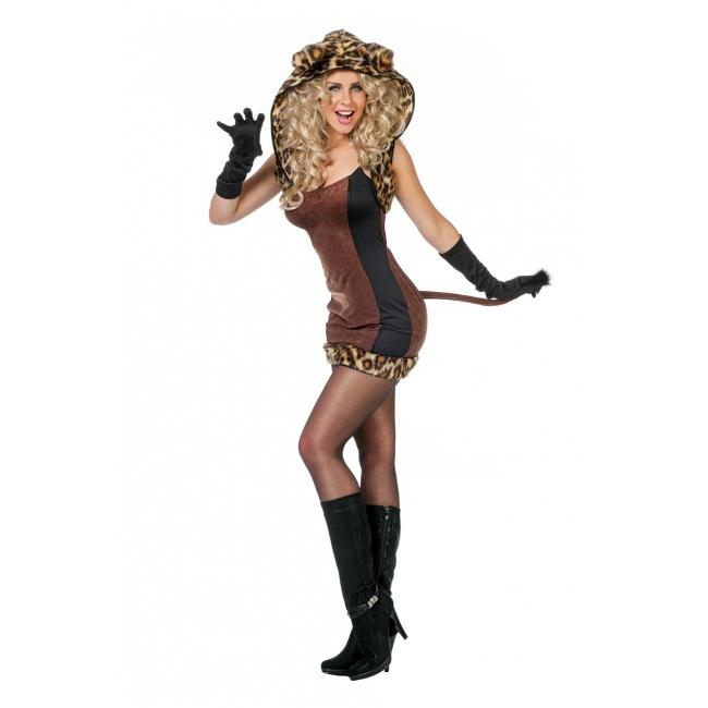 Luipaarden kat kostuum voor dames
