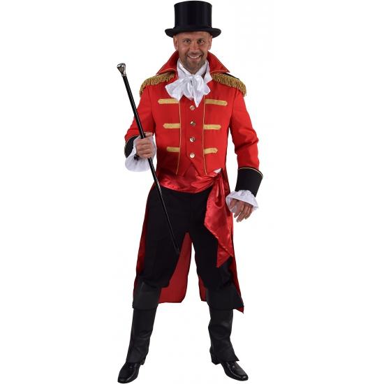 Luxe circus jas rood voor heren