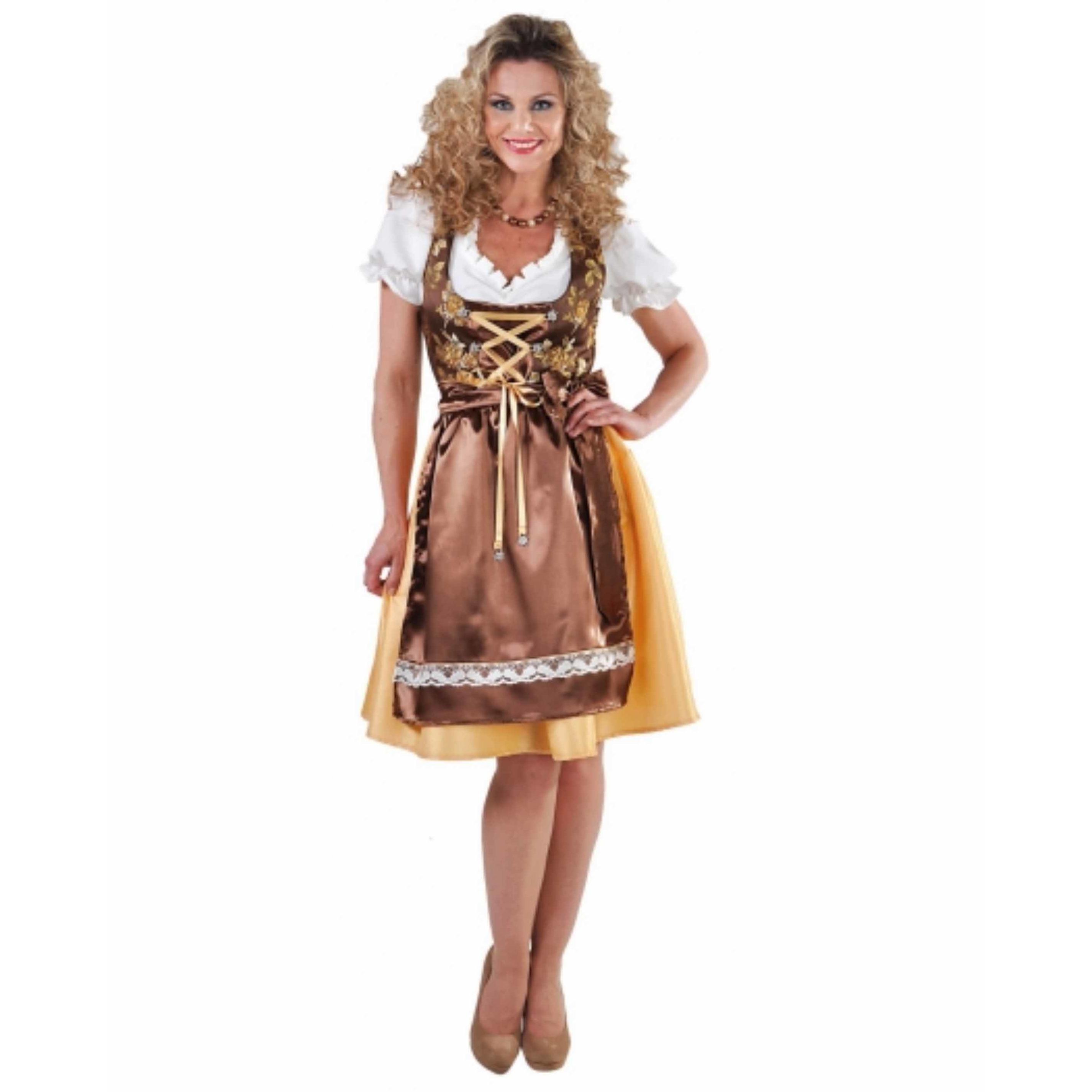 Luxe dames Tiroler jurkje goud