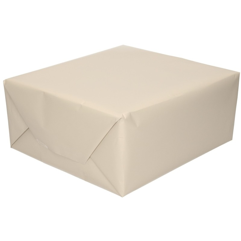 Luxe inpakpapier/cadeaupapier champagne zijdeglans 150 x 70 cm