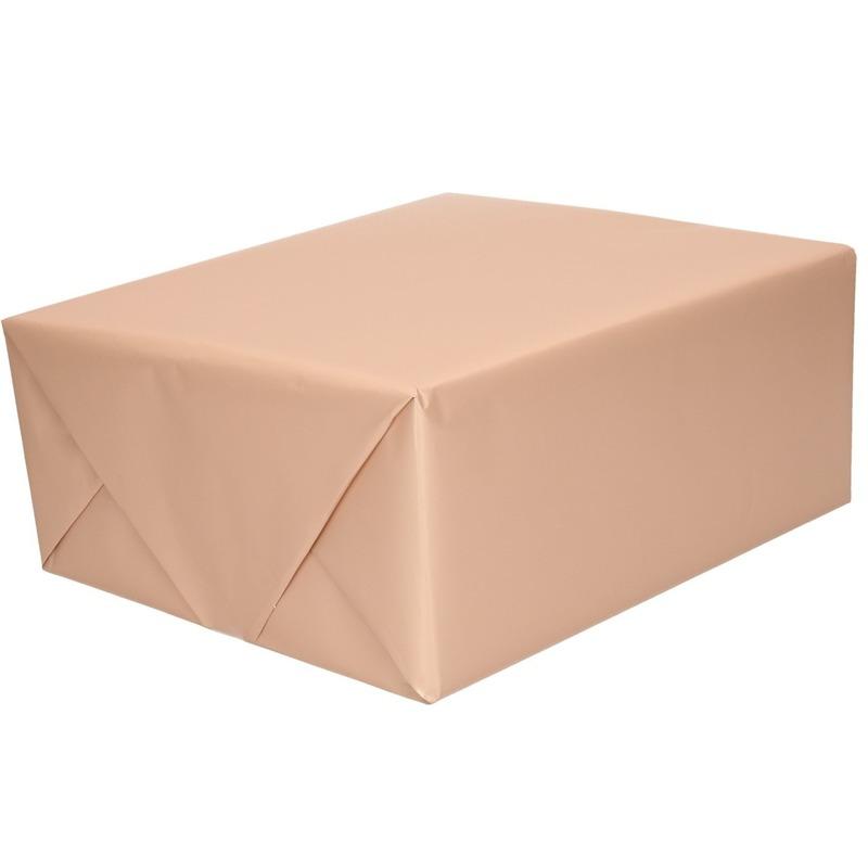 Luxe inpakpapier/cadeaupapier oud roze zijdeglans 150 x 70 cm