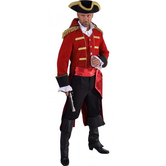 Luxe piraten jas rood voor heren