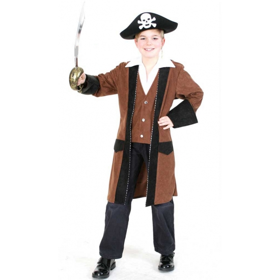 Luxe piratenkleding verkleedjas voor kids